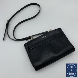 Cole Haan Under $100: Black Leather Crossbody Bag